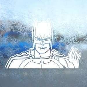 BATMAN DARK KNIGHT White Decal Car Window Laptop White