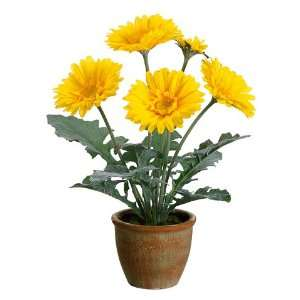 Daisy X4 in Paper Mache Pot Yellow (Pack of 4) Arts, Crafts & Sewing