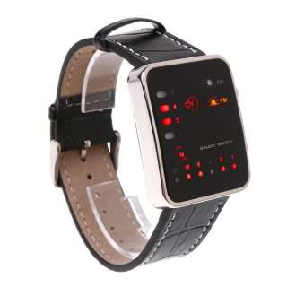 Fashion Women Men Red LED Digital Wrist Sport Watch Binary Wristwatch