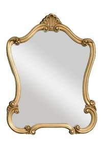 Uttermosts traditional gold wall mirror features a gold frame