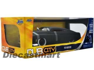 JADA DUB CITY 118 1951 MERCURY NEW DIECAST MODEL CAR MATTE BLACK W