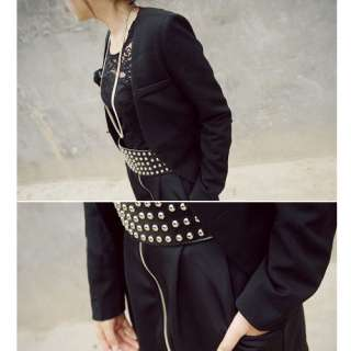 Chic Retro Punk Style Women Ladies Rivet Wide Waist Band Stretchy Wide