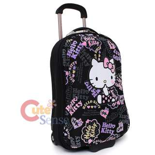 Hello Kitty Rolling Luggage ABS Trolley Bag 20 Hard Suit Case Black