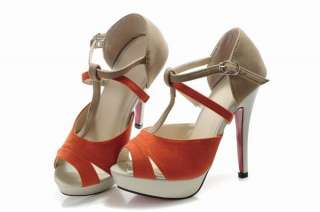 Fashion Style Women/Ladies Red High Heel Shoes Size #3~#8 SK070