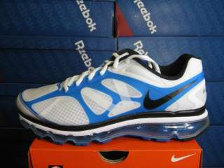 NIKE MENS AIR MAX+ 2012 WHITE BLACK BLUE SPARK