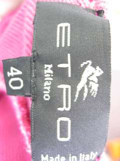 ETRO Fuschia Cotton Sleeveless Halter Top Blouse Sz 40