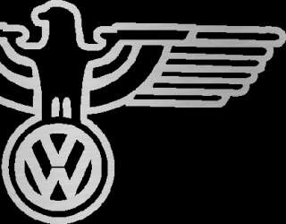 VW Coat of Arms Eagle Outline CHROME Decal Sticker GHIA