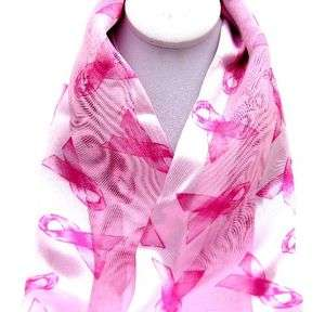 BREAST CANCER PINK RIBBON NECK Scarf 21X21 S10