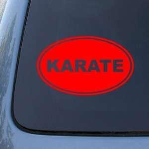 OVAL   Martial Arts   Vinyl Car Decal Sticker #1723  Vinyl Color Red