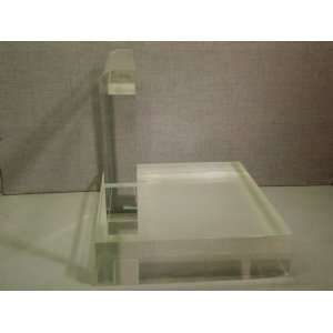 Stunning Modern Clear Lucite Table or Display Base