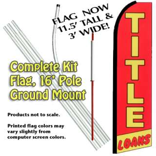 TITLE LOANS 15 Swooper Feather Flag Banner Sign Kit