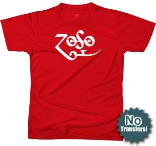 Zoso Jimmy Symbol Zeppelin Rock Retro Music New T shirt