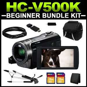 Panasonic HC V500K Black 1/5.8 MOS 3.0 LCD 38X Optical
