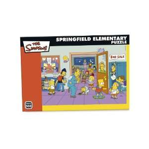 Elementary Puzzle   Simpsons 500 Pc Jigsaw Puzzle 7310 Toys & Games