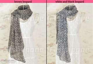 New Fashion Hot Large Leopard Print Soft Chiffon Scarf Stole