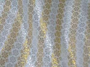 SILVER & GOLD METALLIC BROCADE FABRIC SKIRT DRAPE DRESS