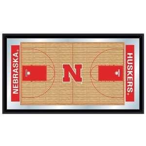 of Nebraska Cornhuskers Basketball Mirrored Sign