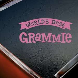 Worlds Best Grammie Pink Decal Car Truck Window Pink