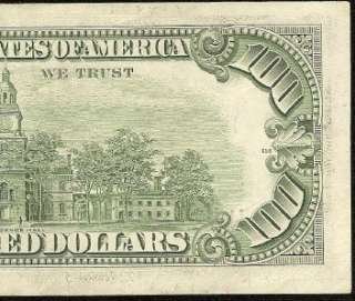 /AU 1977 $100 DOLLAR BILL FEDERAL RESERVE STAR NOTE Fr 2168 K*