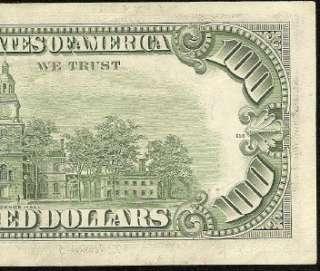 /AU 1977 $100 DOLLAR BILL FEDERAL RESERVE STAR NOTE Fr 2168 K* |