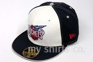 Houston Rockets NBA New Era Navy White Fitted Cap NEW