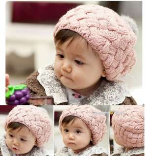 Toddler Cute Winter Knit Crochet Beanie Hat For Baby Kids etb8