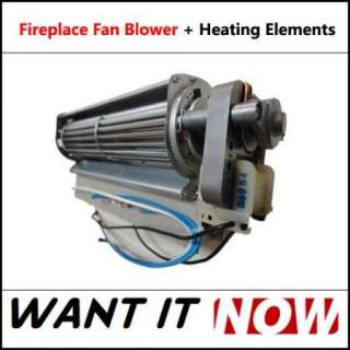 Electric Fireplace Replacement Blower Fan + Infrared Heating Element