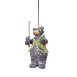 5 Medium Catch Fishing Bear Christmas Ornament