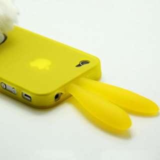 Bunny Rabito Rubber Case Iphone 4G Case Yellow