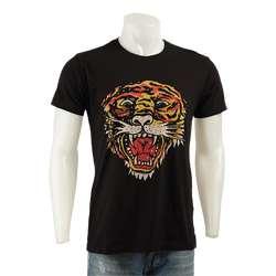 Ed Hardy Mens Premium Tiger Rhinestone Shirt  Overstock
