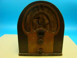 Philco Jr. Antique Tube Radio Deco Cathedral Wood Case Parts Repair