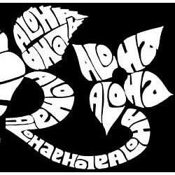 Los Angeles Pop Art Mens Aloha Hoodie