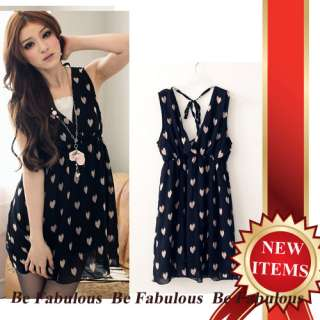 Sweet Charming Love Pattern Flowing Dress XL 1X 2X 3X