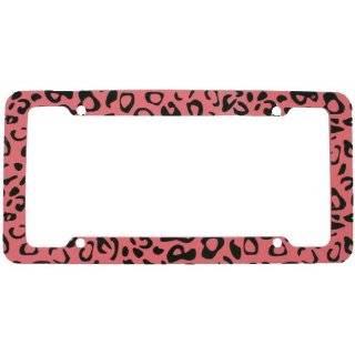 License Plate Frame   Car Truck SUV   Leopard Light Pink Animal Print