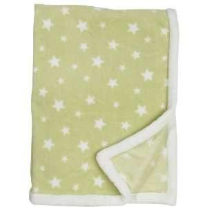 Kids Line Boa Blankets   Sage W/ White Star Baby