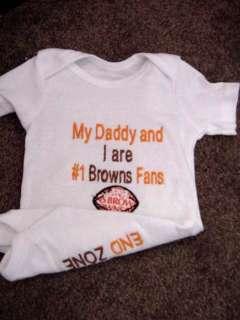 Cleveland Browns Football Baby Infant Newborn Onesie
