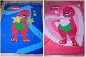 Barney & Friends Soft Fleece Throw Kids Blanket NEW