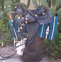 Miniature Mini Horse 8 Leather Saddle UPGRADED Package