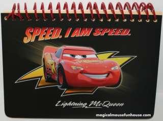 DISNEY PIXAR CARS LIGHTNING McQUEEN AUTOGRAPH BOOK NEW