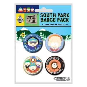 Pyramid International   South Park pack 4 badges: Toys