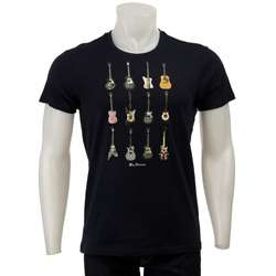 Ben Sherman Mens Guitar Crewneck T shirt