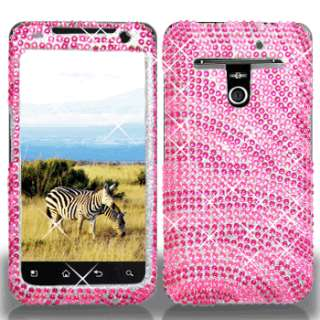 Pink Zebra Crystal Bling Case Phone Cover LG Revolution