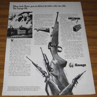 1973 VINTAGE AD~SAVAGE MODEL 110 D,110 CL,170,99A RIFLES