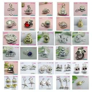 silver earring necklace bracelet pendant beads charm eardrop