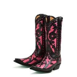 Lane Boots Womens Black/ Pink Poison Cowboy Boots