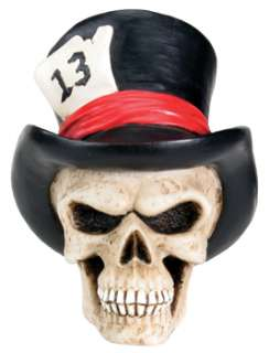 TOP HAT.LUCKY 13 SKULL DIY KEY HEAD.DASHBOARD FIGURINE.BIZARRE CUSTOM