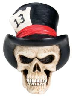 TOP HAT.LUCKY 13 SKULL DIY KEY HEAD.DASHBOARD FIGURINE.BIZARRE CUSTOM