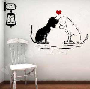 LOVE CAT DOG STICKER DECOR CUSTOM DECAL WALLPAPER LOGO