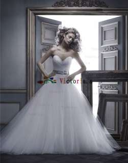 Custom New White/ivory Wedding Dress Bride Gown Size 2 4 6 8 10 12 14