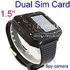 unlocked gsm dual sim card mobile cell phone wrist watch hidden